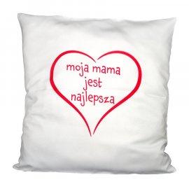 Poszewka moja mama serce najlepsza na poduszkę 40x40