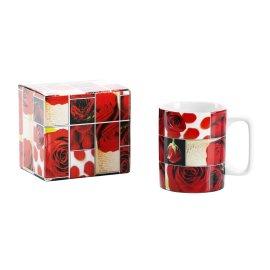Walentynki Kubek porcelanowy LOVE Gift róże