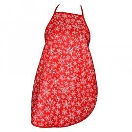Fartuszek dziecięcy kuchenny śnieżynki czerwony