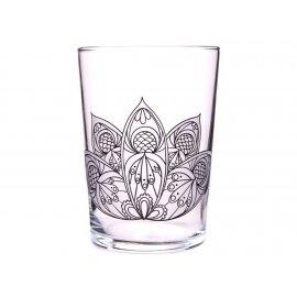 Szklanka kolorowanka Mandala kwiat do klorowania 510 ml PASABAHCE