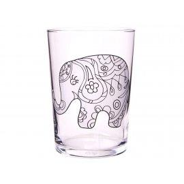 Szklanka kolorowanka Mandala słoń do klorowania 510 ml PASABAHCE