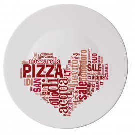Talerz do pizzy 33 I Love Pizza CzerwonyBormioli Rocco