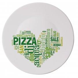 Talerz do pizzy 33 I Love Pizza Zielony Bormioli Rocco