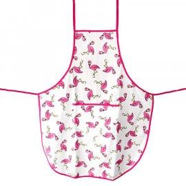 Fartuszek Flamingi z kieszonką fartuch kuchenny