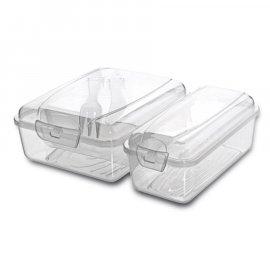 Pojemnik 2 przegródki lunch box Take away Aroni