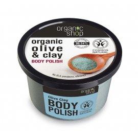 Peeling do ciała Organic shop Niebieska Glinka & Oliwa