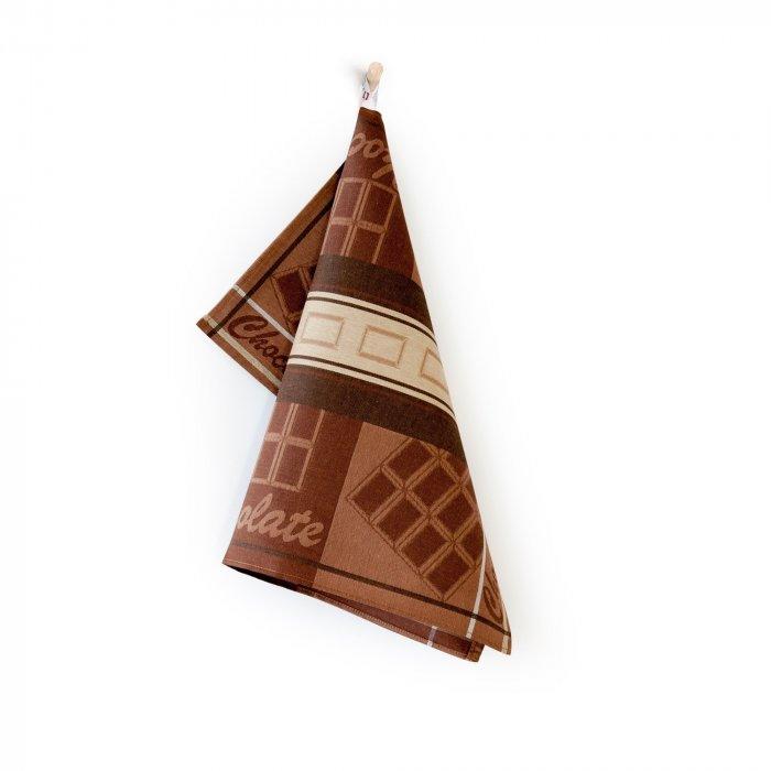 Dekoracyjna ścierka kuchenna 50x70 brąz Chocolate