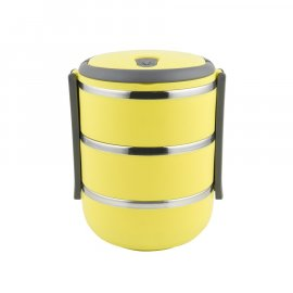 Termos obiadowy 3-poziomowy 2,1L żółty