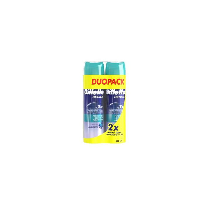 Żel Do Golenia Gillette Series Protection 2x200 ml