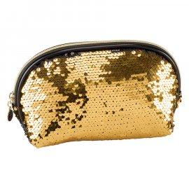 Kosmetyczka Sequeen cekiny czarno-złota Inter Vion