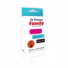 Plastry opatrunkowe z napisami dla rodziny Dr Pomoc