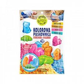 Kolorowa Piaskownica, foremki-figurki 3D, fajowe zwierzaki