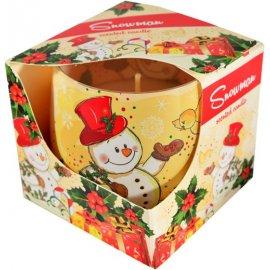 Świeca zapachowa w szkle Snowman 24h Admit