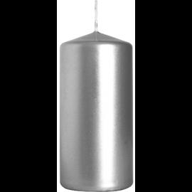 Świeca walec srebrna metaliczna 50/100 mm Bispol