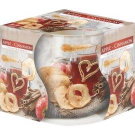 Świeca zapachowa w szkle Jabłko-cynamon 24h Bispol