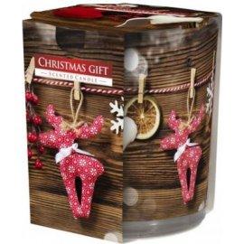 Świeca zapachowa w szkle i folii Świąteczny Prezent 22h Bispol