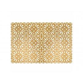 Prostokątna mata stołowa Glamour 45 x 30 cm złota Ambition