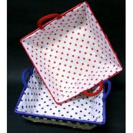 Koszyk Palma w groszki z uszkami kwadrat 22 cm Domotti