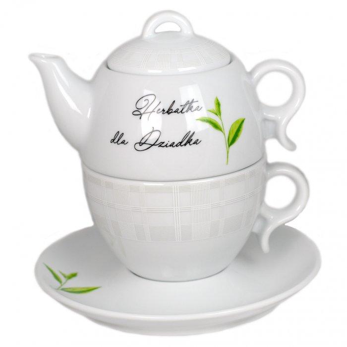 Komplet herbaciany Herbatka dla Dziadka 3 cz Bola Lubiana