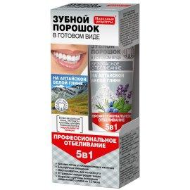 Proszek do zębów 5w1 w postaci pasty Fitokosmetik na białej glince ałtajskiej