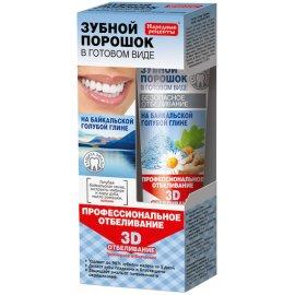Proszek do zębów 3D w postaci pasty Fitokosmetik na Bazie Glinki Bajkalskiej