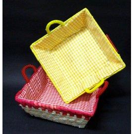 Koszyk kolorowy Palma kwadrat Domotti