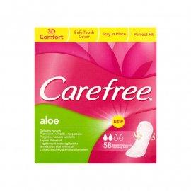 Wkładki higieniczne Carefree Aloe 58 szt