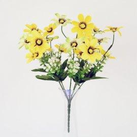 Kwiat Sztuczny - Bukiet polnych kwiatów Żółte