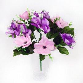 Bukiet fioletowo różowych Bratków Bratek