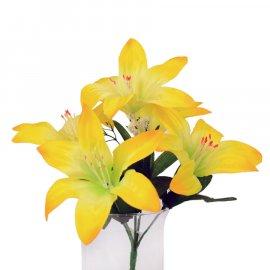 Kwiat Sztuczny Lilia - bukiet żółte Lilie