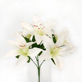 Kwiat Sztuczny Lilia - bukiet białe Lilie
