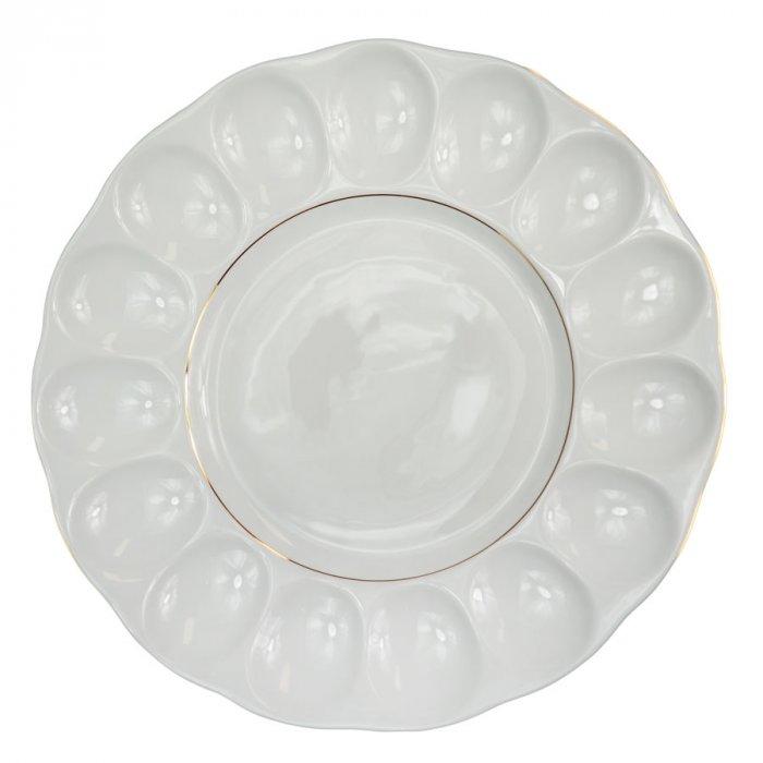 Półmisek do jajek 21 Iwona biały Chodzież