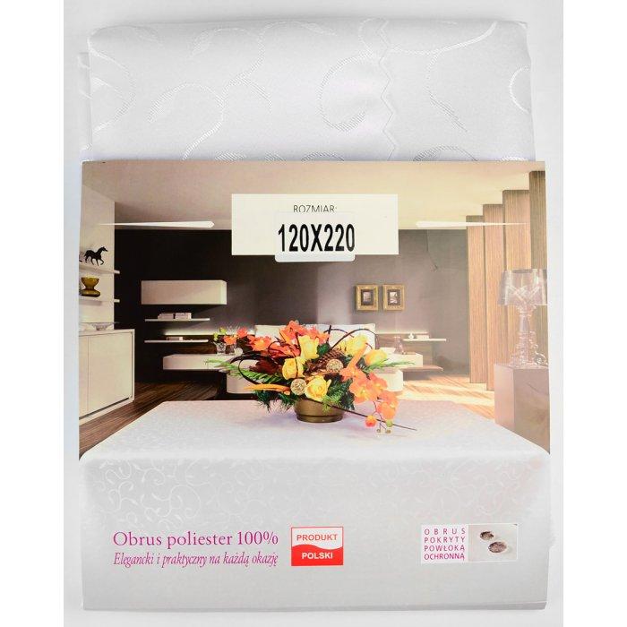 Obrus plamoodporny prostokątny biały 140x220