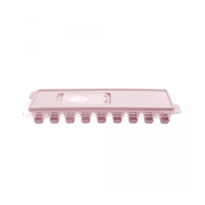 Foremka na kostki lodu z pokrywką prostok. różowy