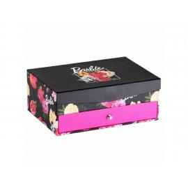 Pudełko z lusterkiem i szufladką Barbie Kwiaty 20 x 14 x 8 cm
