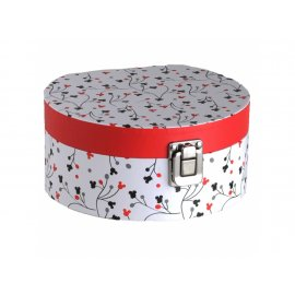 Pudełko z lusterkiem Mickey Pattern 17 x 15,5 x 8 cm DISNEY