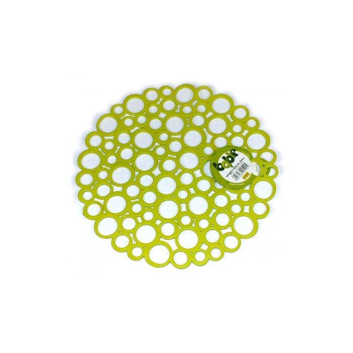 Okrągła mata do zlewu limonka Bąble Practic