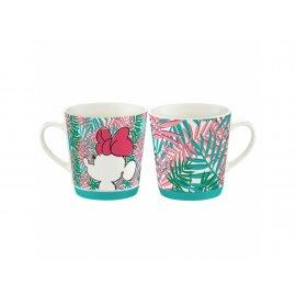 Kubek porcel. Minnie Tropical 320 ml Liście DISNEY / AMBITION