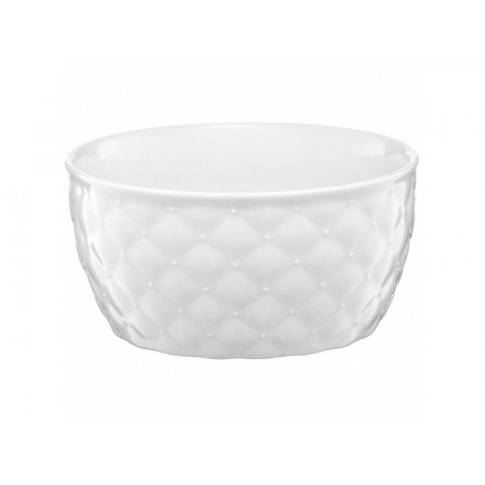 Salaterka pikowana Glamour biała 13,5cm AMBITION