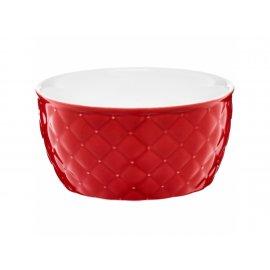 Salaterka pikowana Glamour czerwona 13,5cm AMBITION