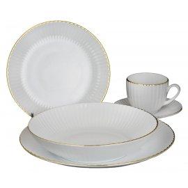 Serwis obiadowo-kawowy 6/30 Daisy 1608c Lubiana