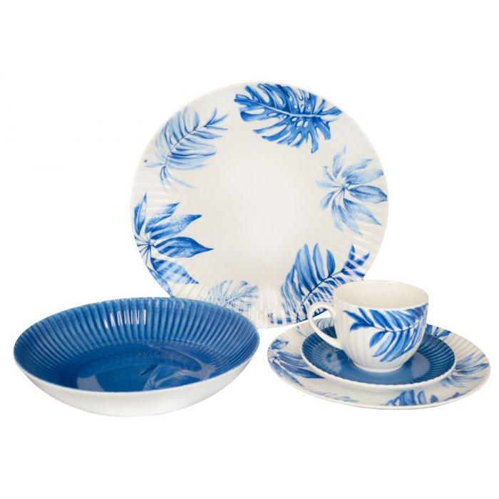 Serwis obiadowo-kawowy 6/30 Daisy 17260 niebieska Lubiana