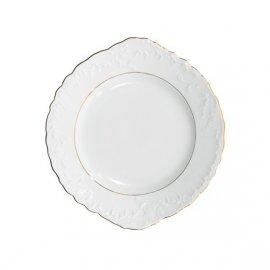 Talerz do ciasta Rococo złoty pasek 3604 Ćmielów