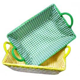 Koszyk kolorowy Palma średni Domotti