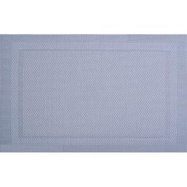 Mata stołowa Velvet PVC/PS 45 x 30 cm szara AMBITION