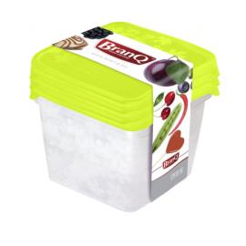 Pojemnik kwadratowe 3 szt Branq lodówka zamrażarka