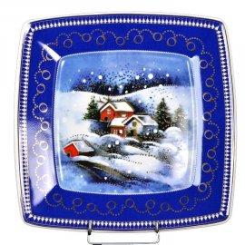 Talerz pł. 26 Świąteczny Pejzaż dek 4327 Victoria Lubiana