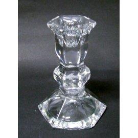 Świecznik szklany do świeczek prostych