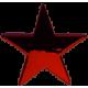 Gwiazda w kolorze burgund mała