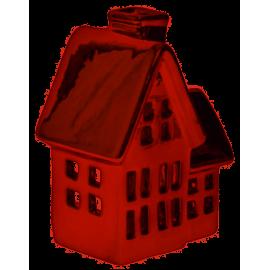 Domek świecznik na świeczkę tealight burgund mały